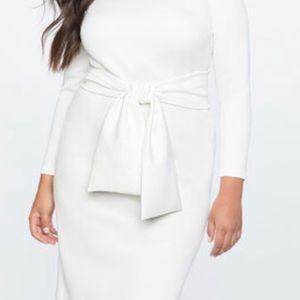 Elegant White Scuba Dress